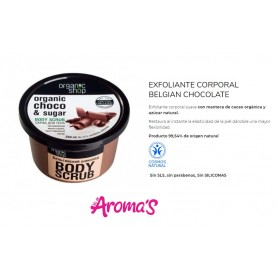 Exfoliante corporal de chocolate